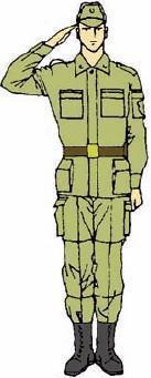 Открытка солдат отдает честь 13